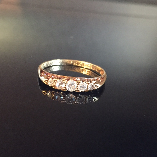 Georgian Diamond Half Hoop Ring  その2