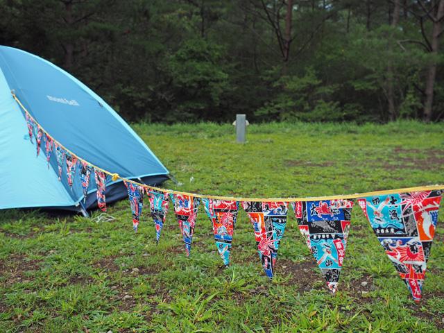 テントを大漁旗で可愛く装飾するフラッグガーランドが登場!