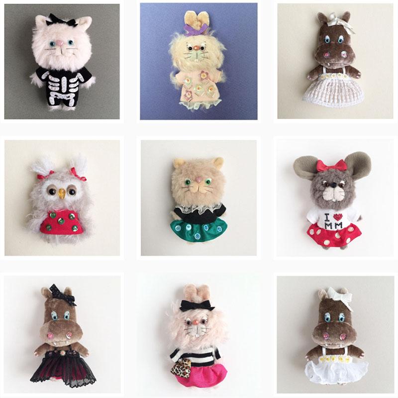 Akane ishigaさんの縫いぐるみチャーム本日よりラフォーレ原宿で販売スタート